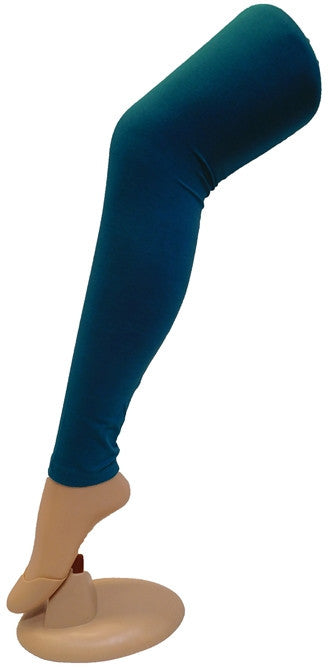 Blue Solid Leggings