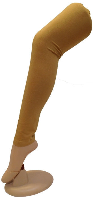 Beige Solid Leggings