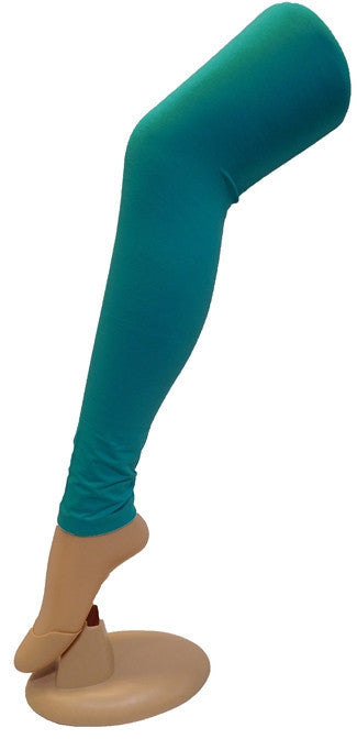 Sea Green Solid Leggings