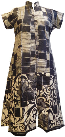 Black Designer Cotton Printed Kurti Kurta
