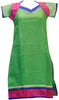 Green Designer Cotton (Supernet) Kurti
