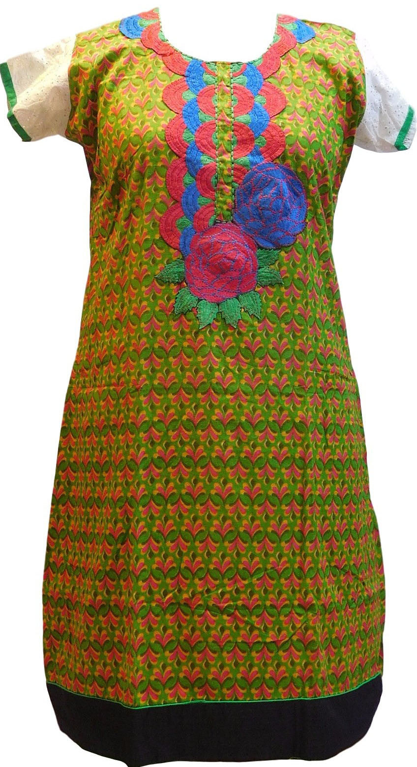 Multicolor Designer Pure Cotton Kurti