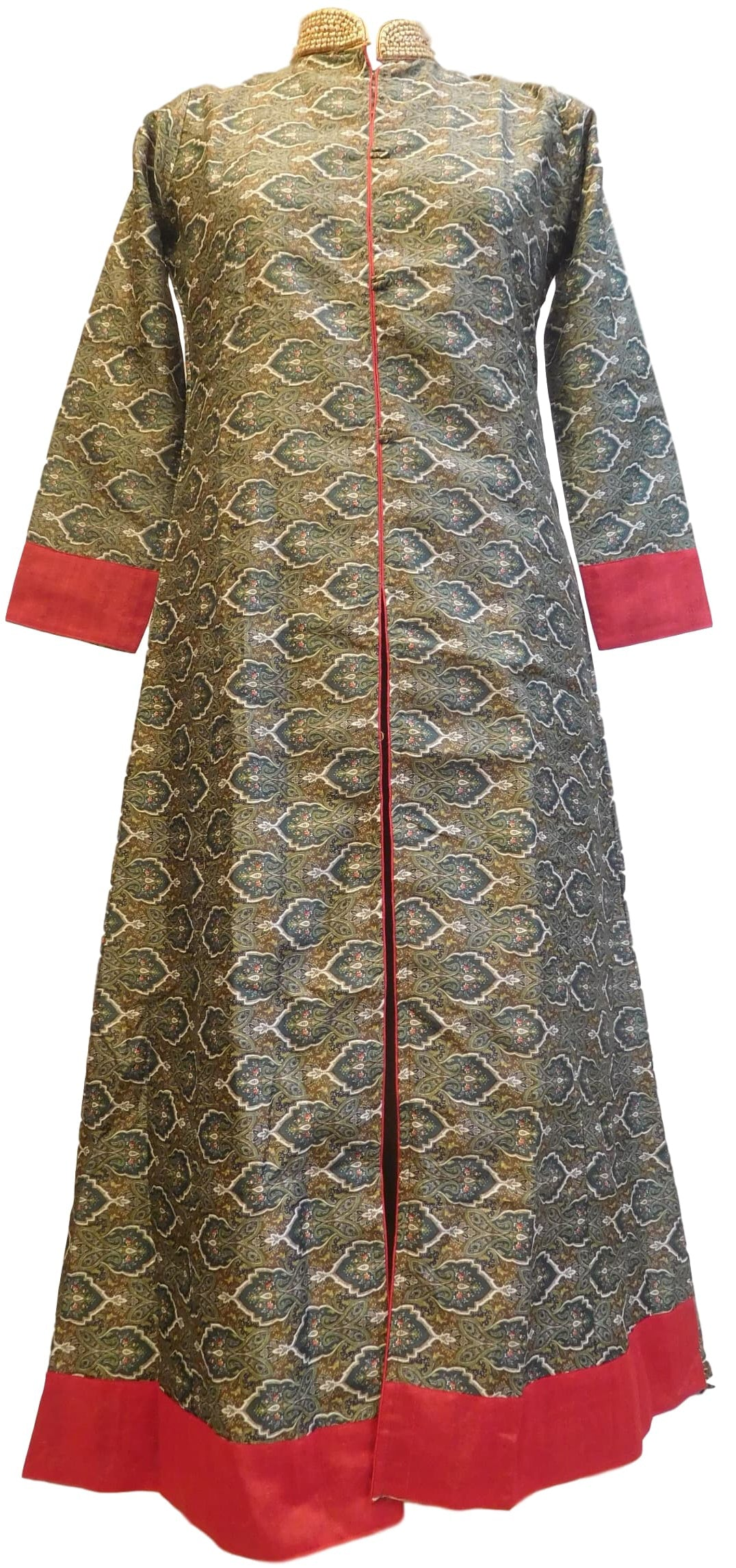 Brown Designer Cotton (Rayon) Printed Kurti Kurta