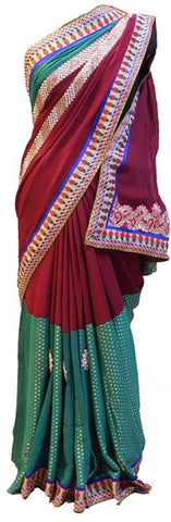 Merron & Green Designer Saree