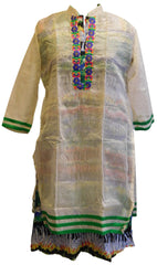 Multicolor Designer Cotton (Chanderi) Kurti
