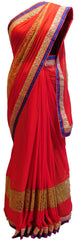 Red Designer Chiffon Saree