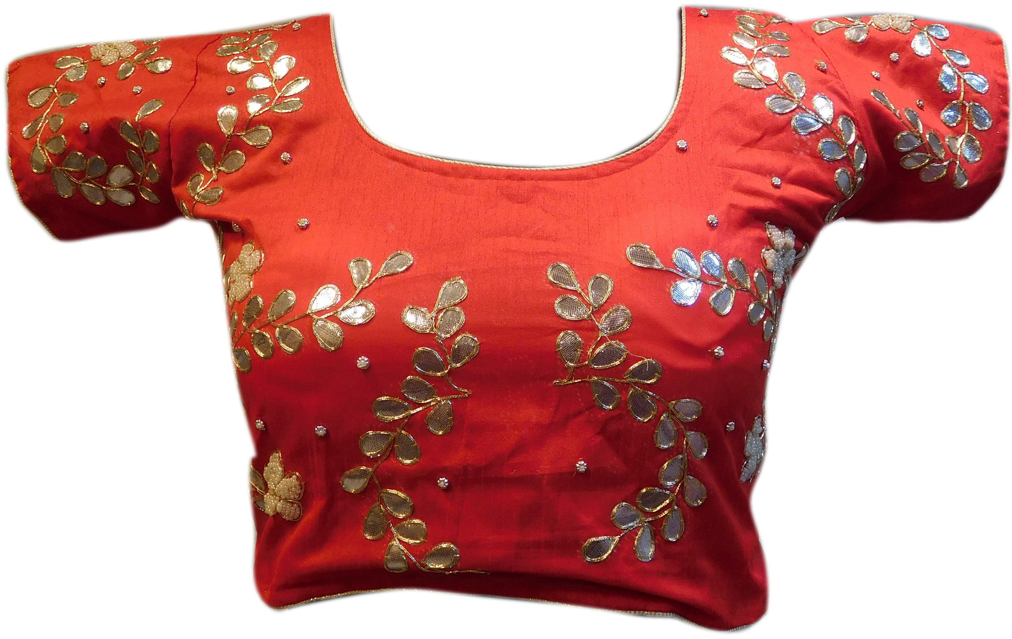 Red Designer Gota Work Blouse