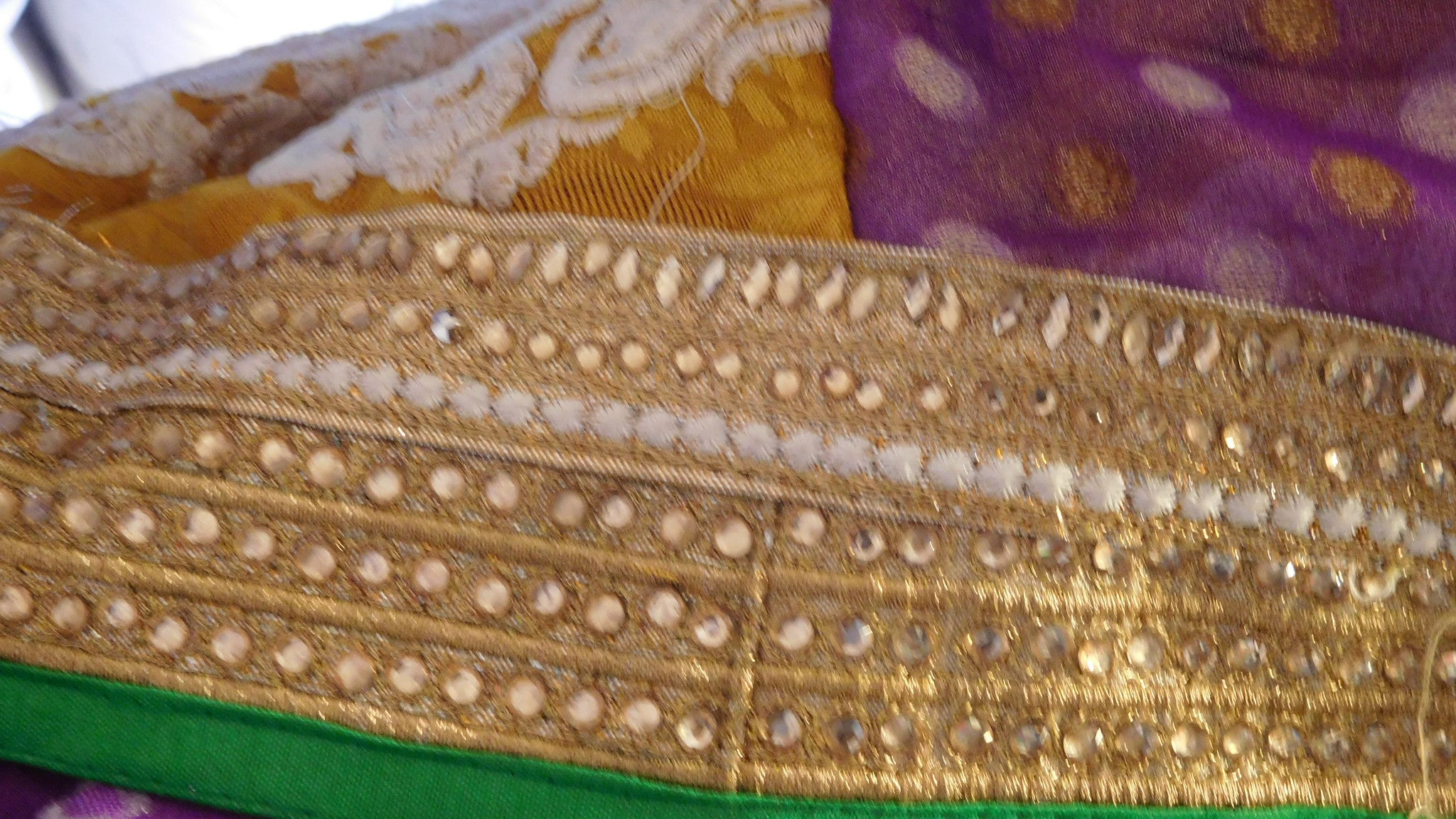 Purple & Yellow Designer Saree