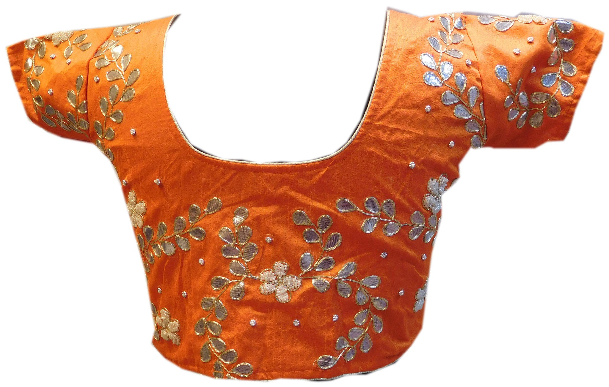 Orange Designer Gota Work Blouse