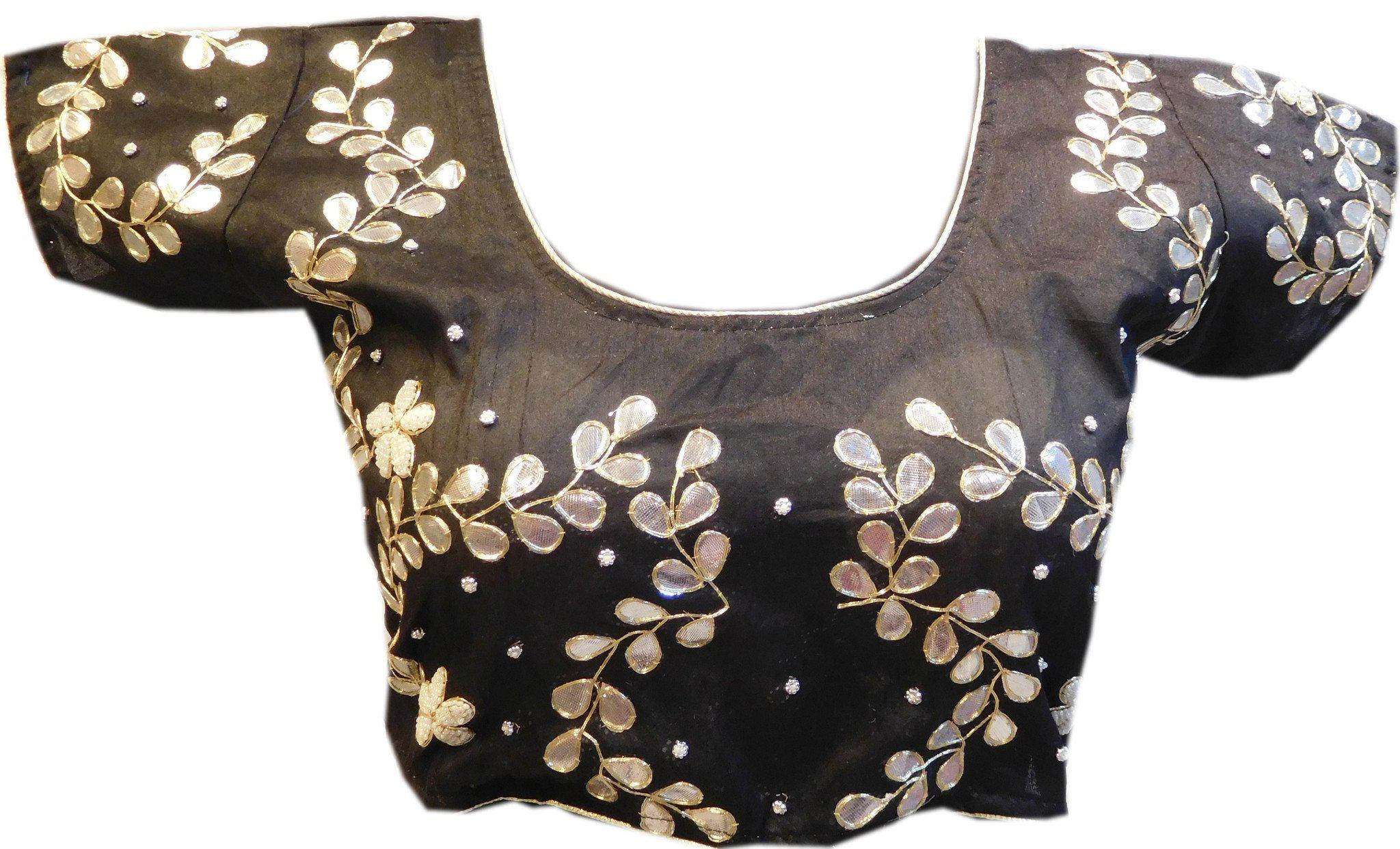 Black Designer Gota Work Blouse
