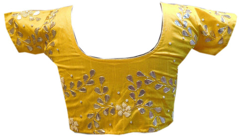Yellow Designer Gota Work Blouse