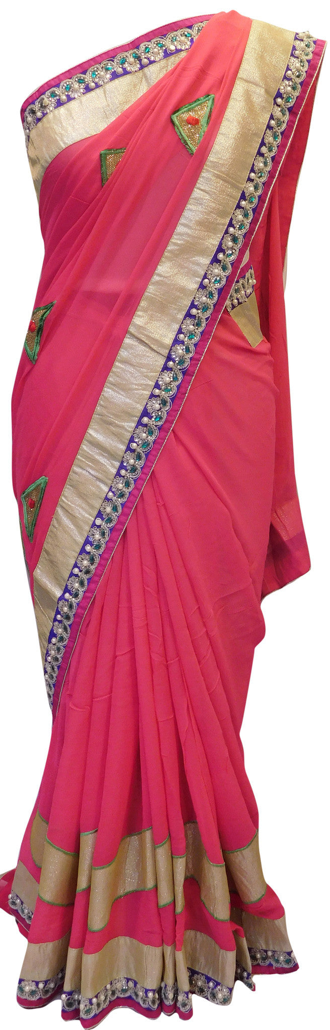 Pink Stylish Saree