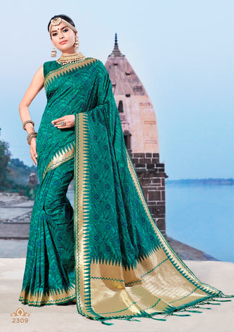 Royal Blue Jacquard Silk Heavy Work Designer Banarasi Saree Sari