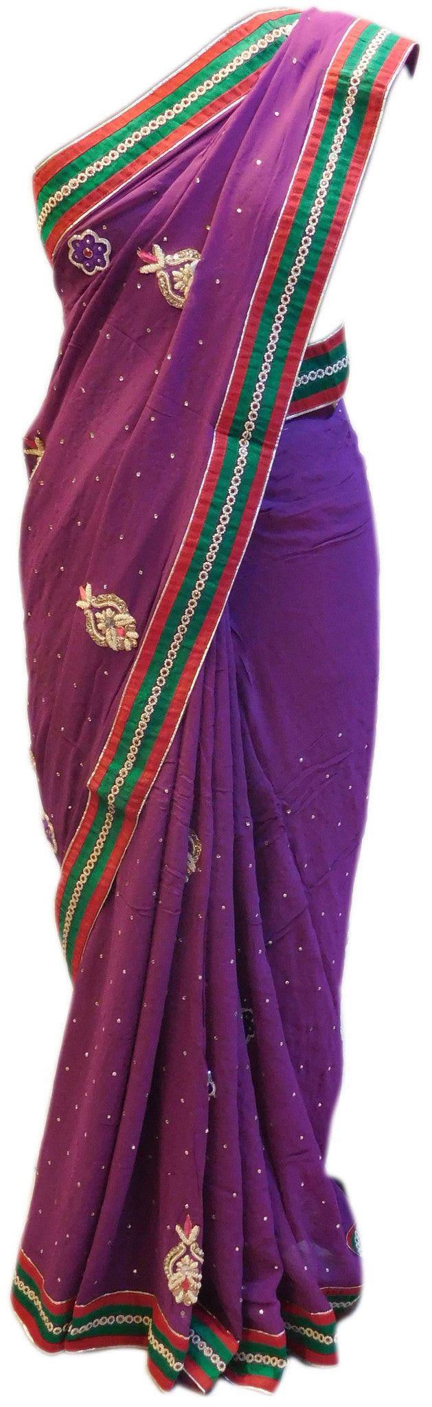 Purple Designer Saree