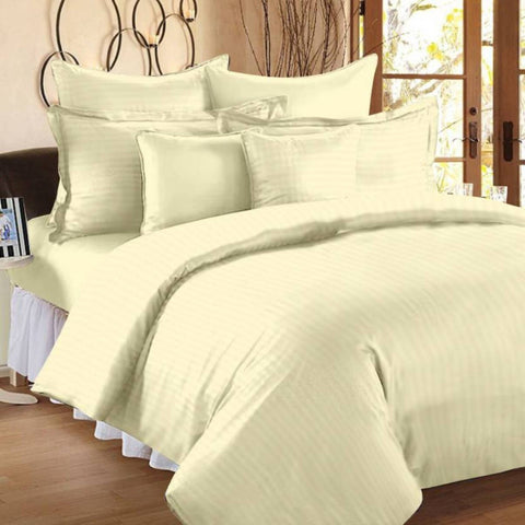 Off White Pure Cotton Double Bed Bedsheet