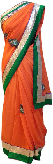 Orange Gota Saree
