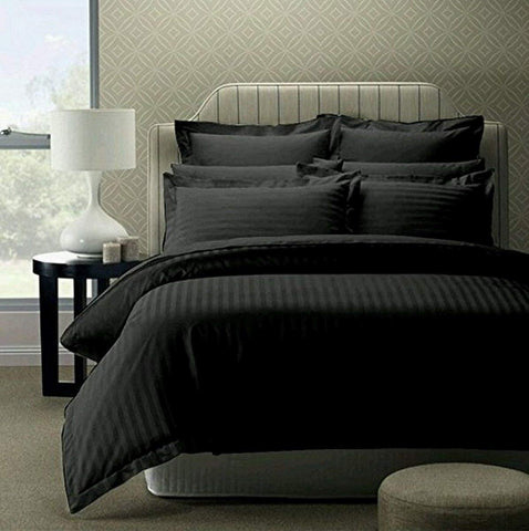 Black Pure Cotton Double Bed Bedsheet