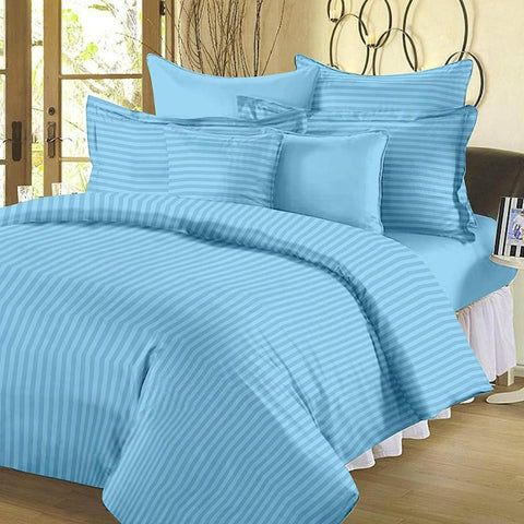 Sky Blue Pure Cotton Double Bed Bedsheet