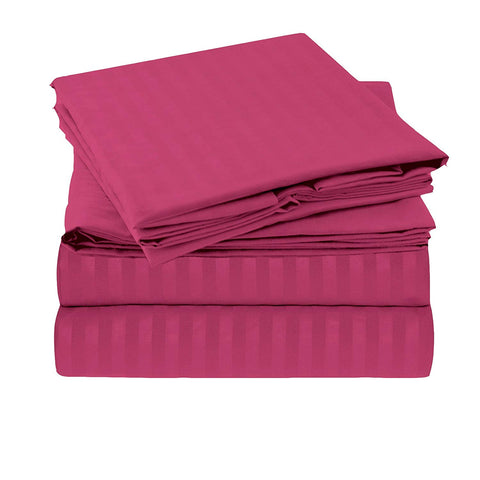 Pink Pure Cotton Double Bed Bedsheet