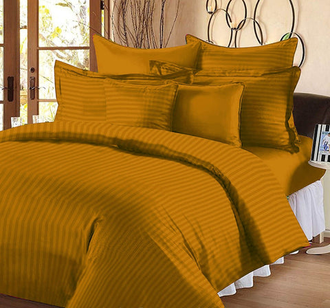 Gold Pure Cotton Double Bed Bedsheet