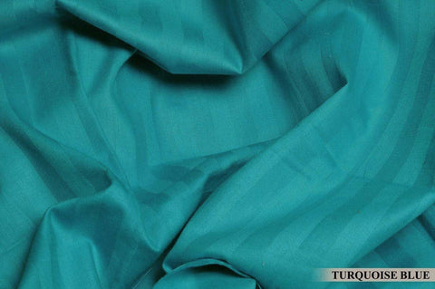 Turquoise Blue Pure Cotton Double Bed Bedsheet