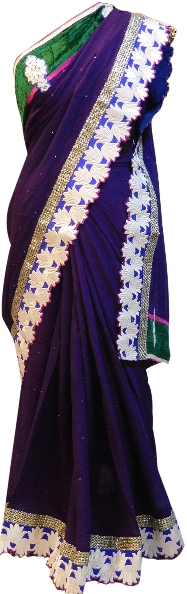 Indigo Stylish Saree