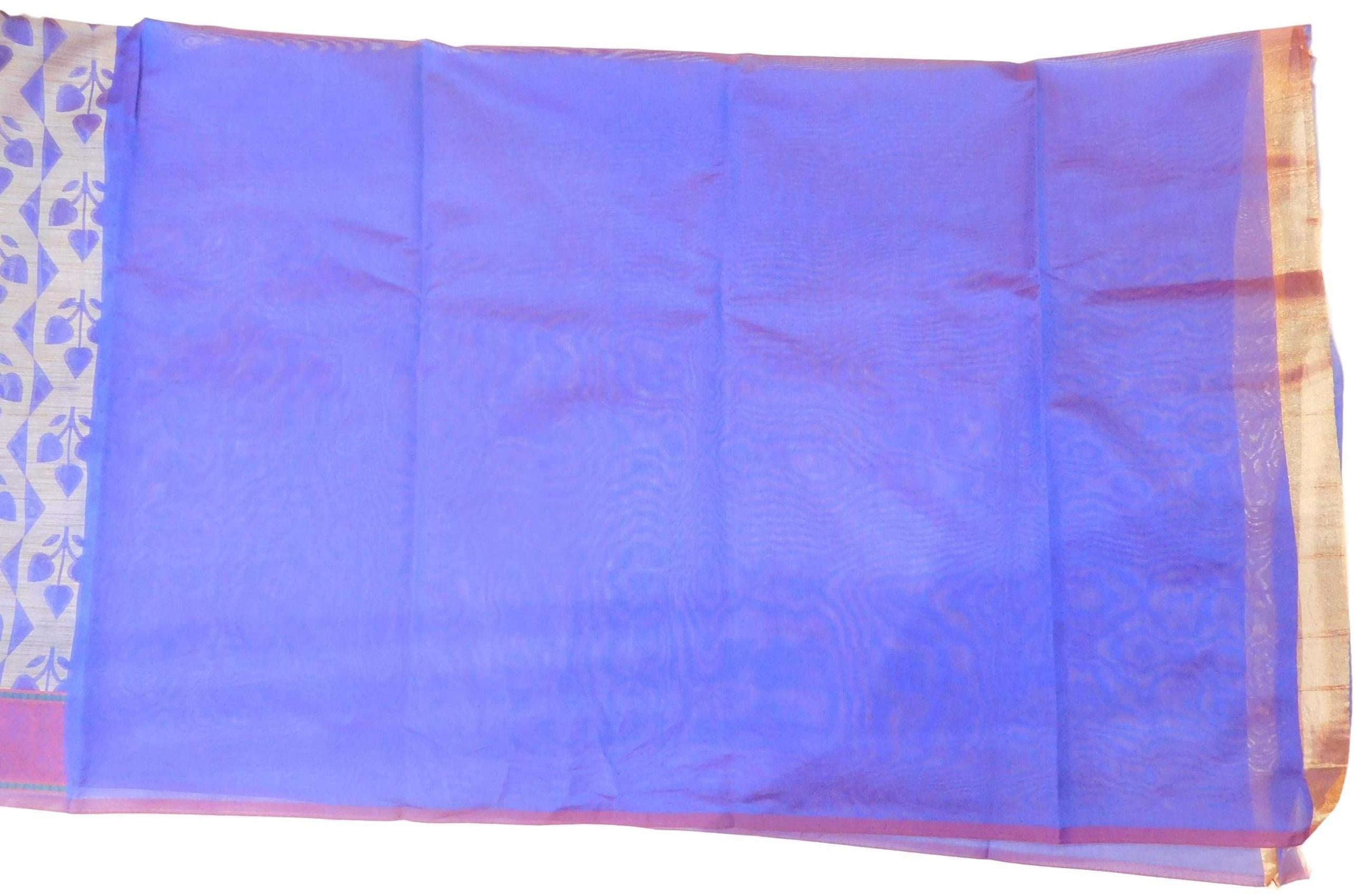 Blue Traditional Designer Wedding Hand Weaven Pure Benarasi Zari Work Saree Sari With Blouse BH105A