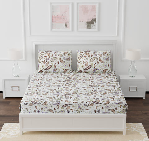 White Cotton Double Bed Bedsheet
