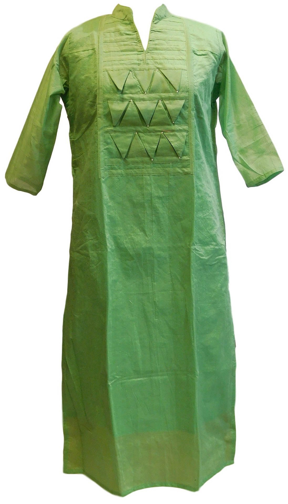 Sae Green Designer Cotton (Chanderi) Kurti