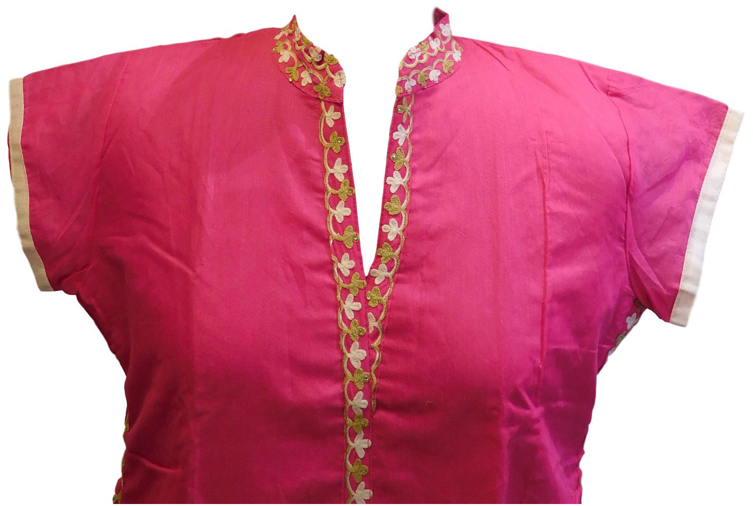 Pink Designer Cotton (Chanderi) Kurti