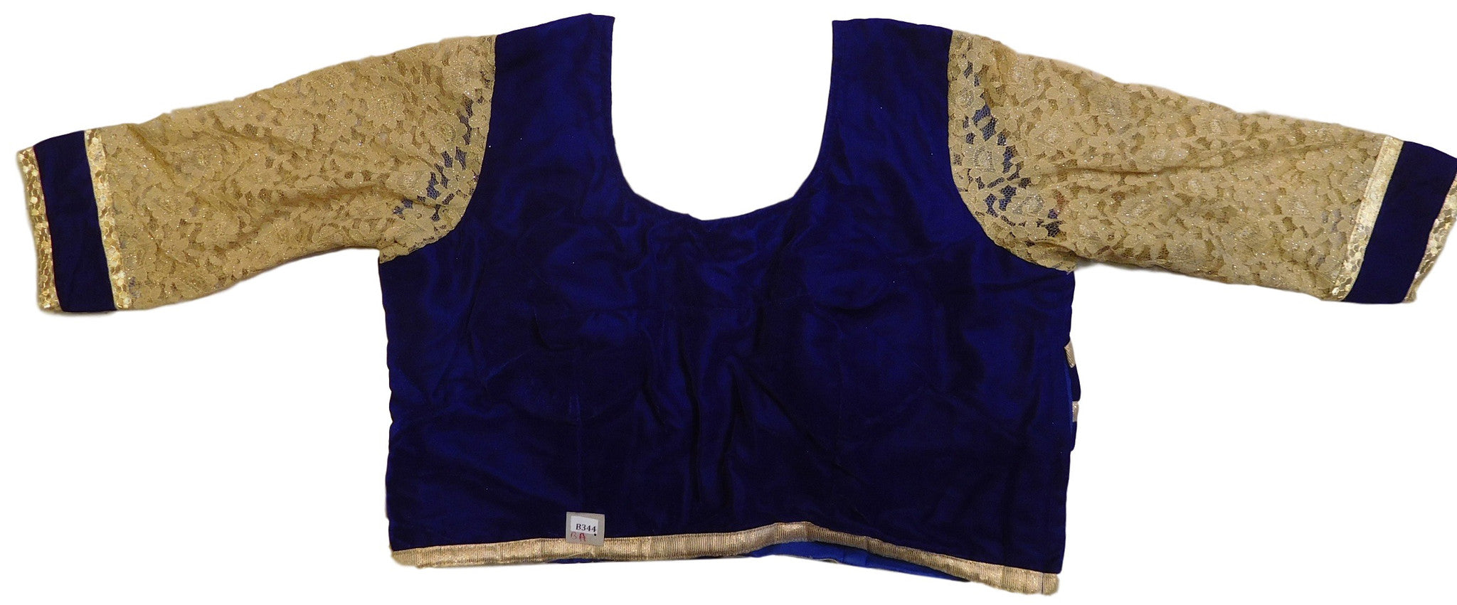 Navy Blue & Cream Designer Blouse
