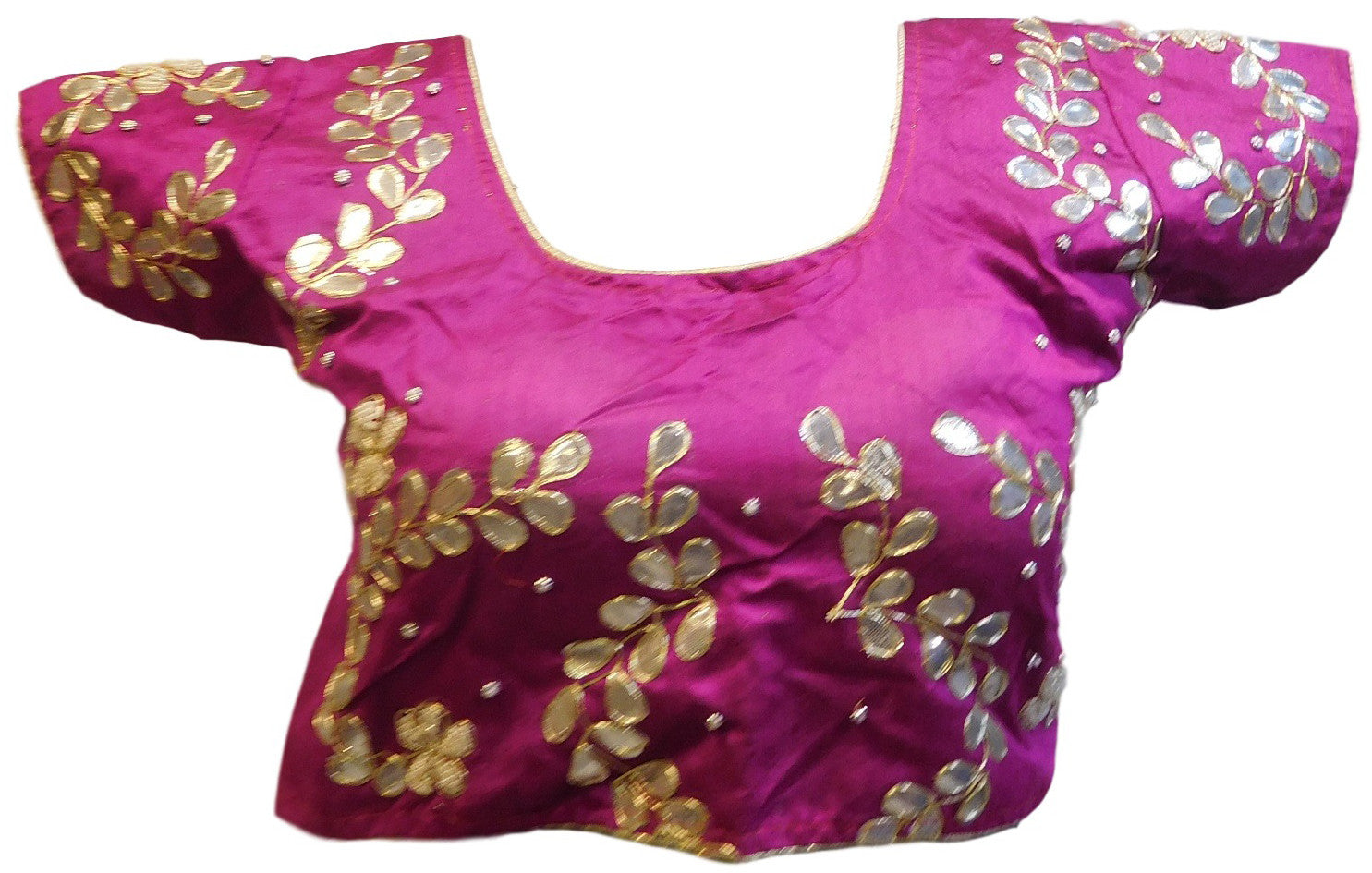 Wine Designer Gota Hand Embroidery Blouse