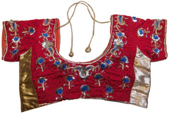 Red Designer Velvet Blouse