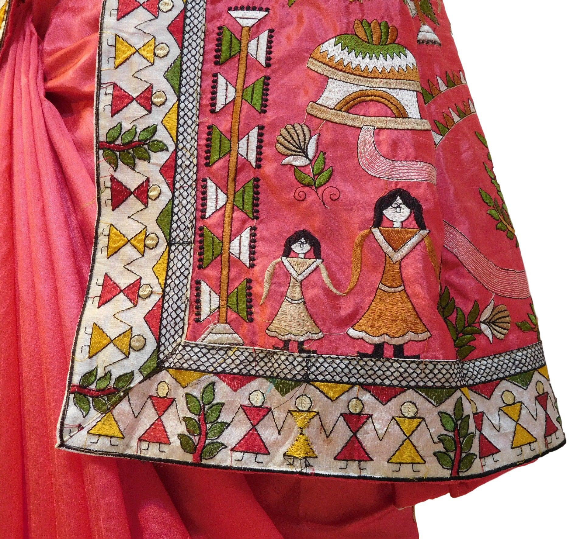 Red Designer Silk Saree