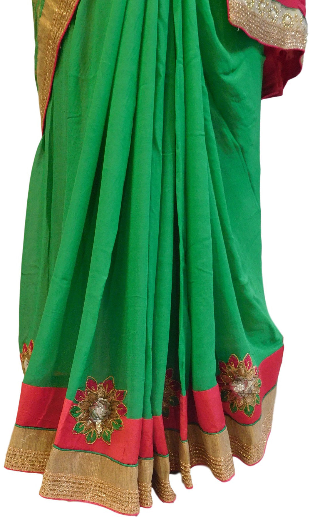 Green Designer Georgette Saree