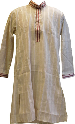 Grey & Merron Designer Partywear Thread Embroidery Mens Kurta