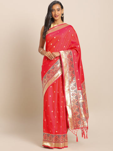 Light Pink Jacquard Silk Heavy Work Designer Banarasi Saree Sari