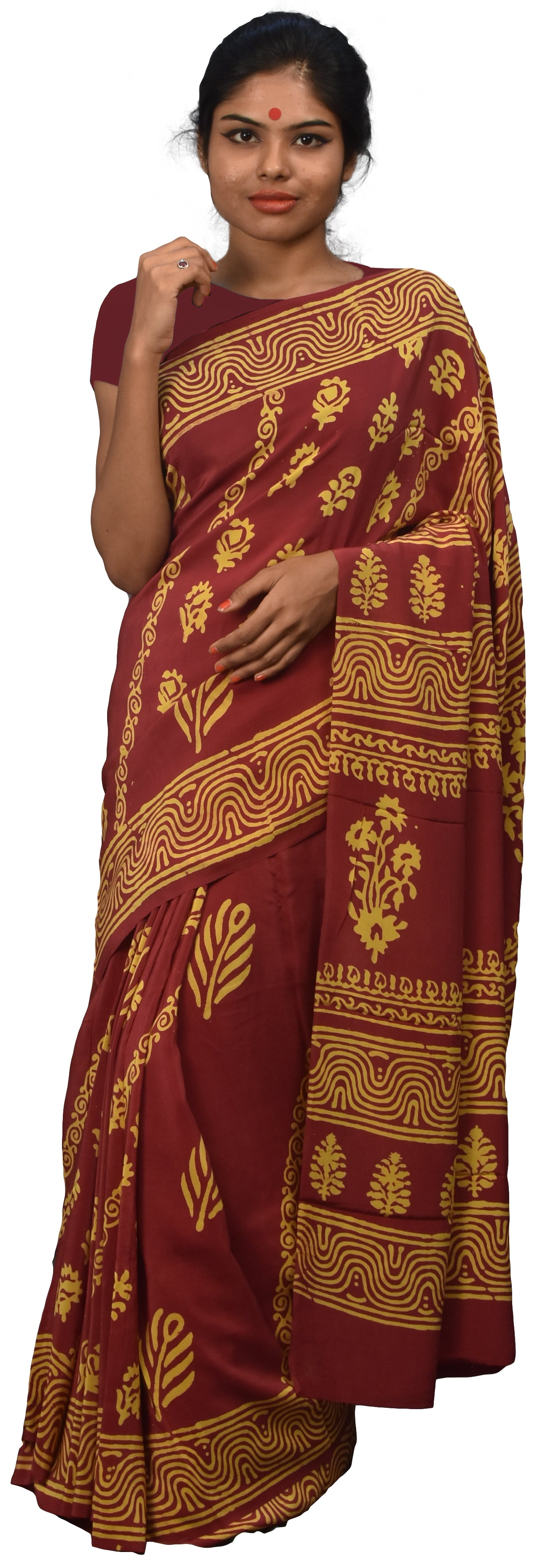 Multicolor Designer Wedding Partywear Pure Crepe Hand Brush Reprinted Kolkata Saree Sari RP136