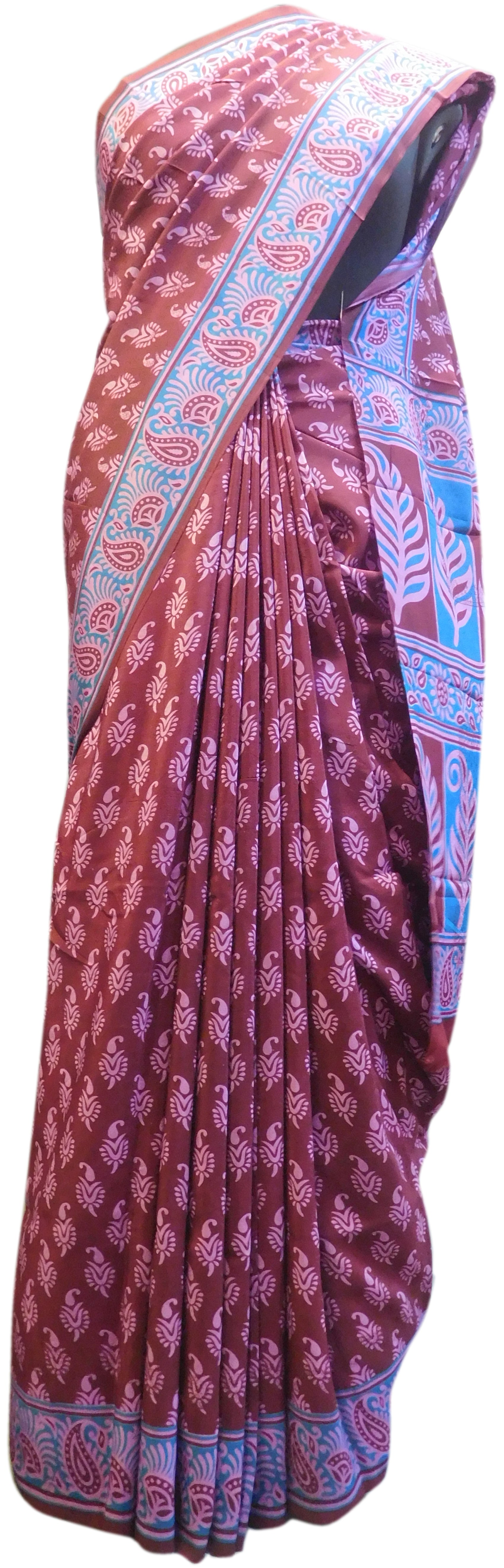 Multicolor Designer Wedding Partywear Pure Crepe Hand Brush Reprinted Kolkata Saree Sari RP150