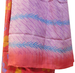 Multicolor Designer Wedding Partywear Pure Crepe Hand Brush Reprinted Kolkata Saree Sari RP16