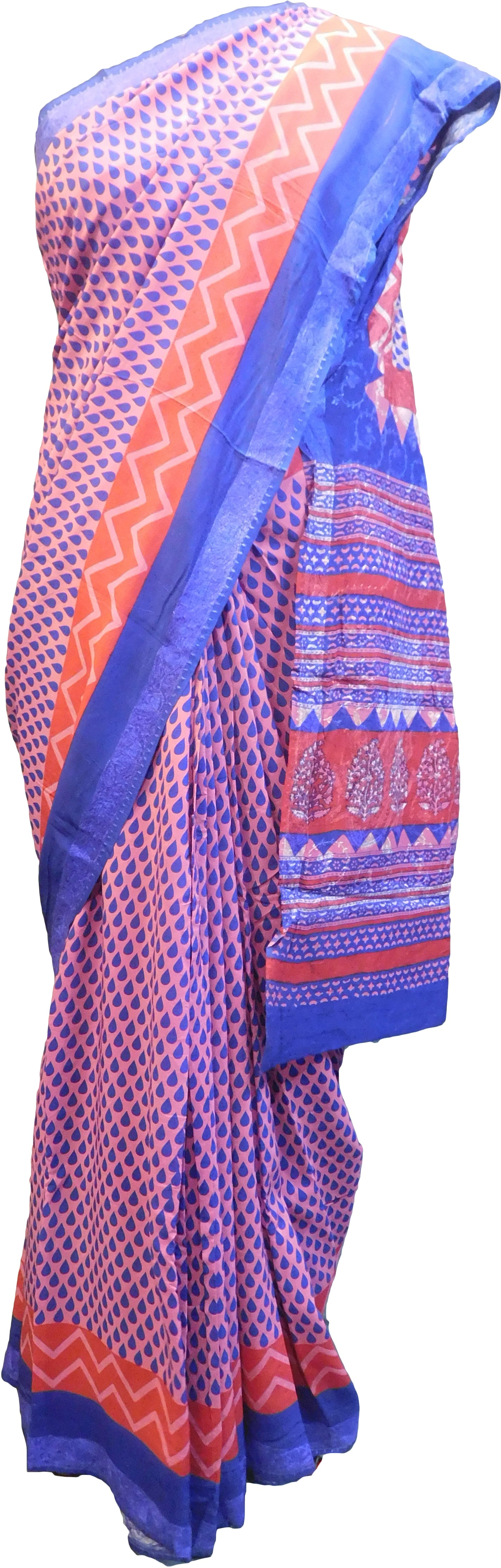 Multicolor Designer Wedding Partywear Pure Crepe Hand Brush Reprinted Kolkata Saree Sari RP269