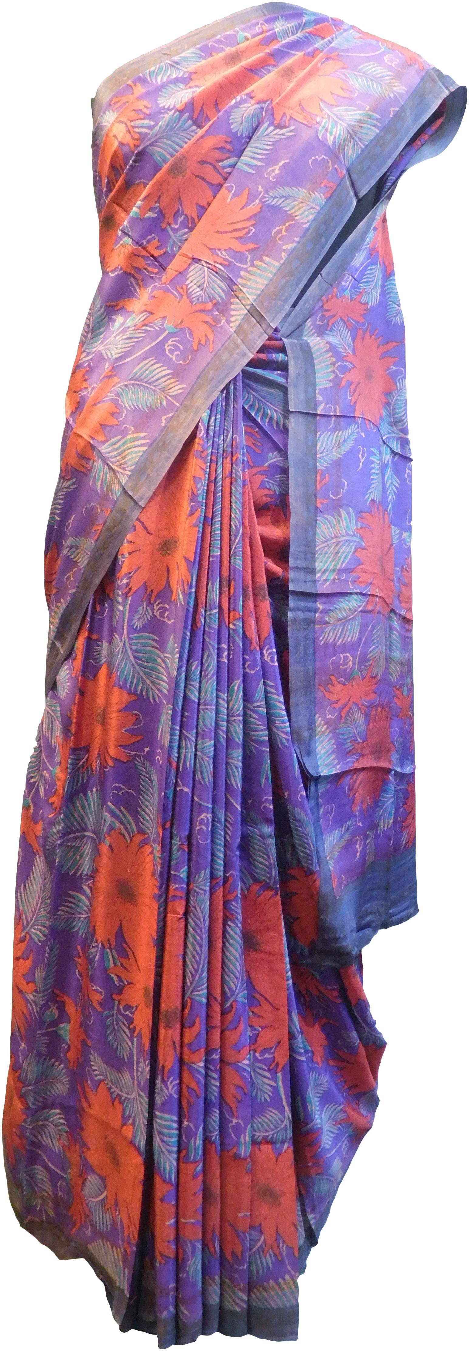 Multicolor Designer Wedding Partywear Pure Crepe Hand Brush Reprinted Kolkata Saree Sari With Blouse Piece  RP271
