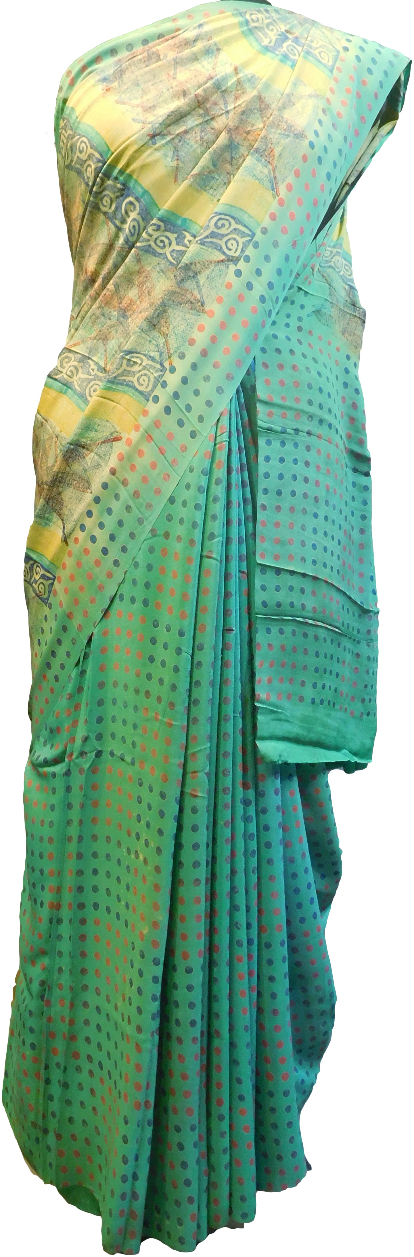 Multicolor Designer Wedding Partywear Pure Crepe Hand Brush Reprinted Kolkata Saree Sari With Blouse Piece  RP274