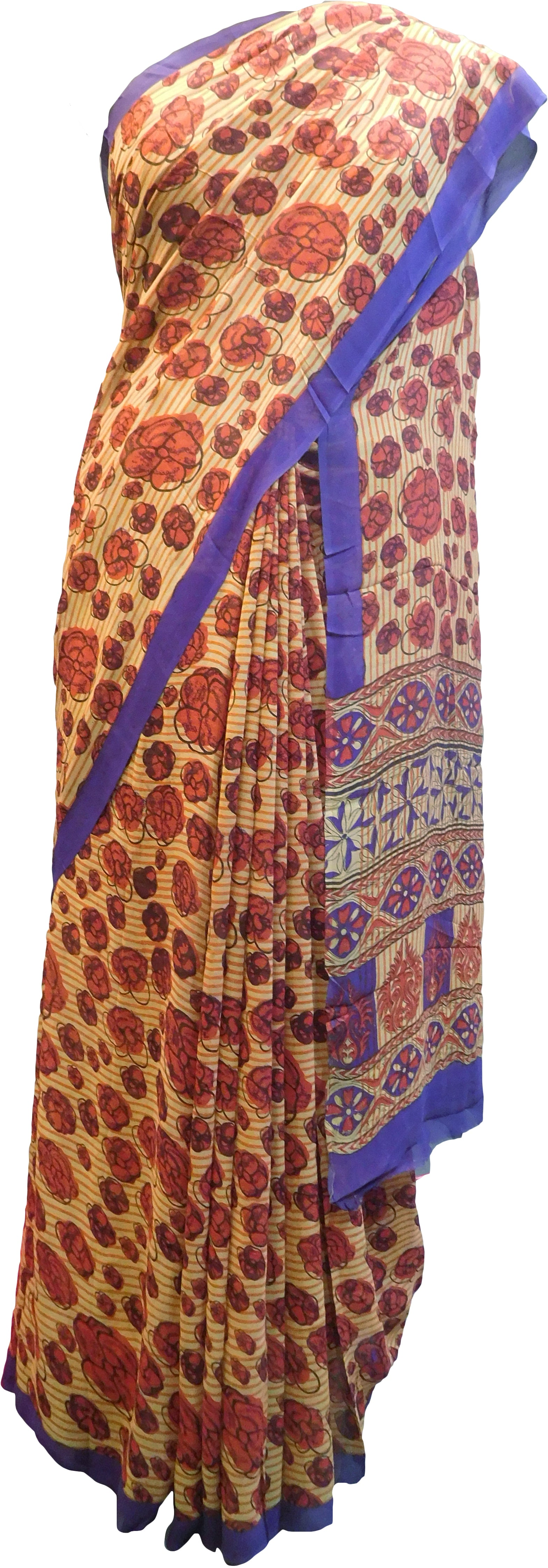 Multicolor Designer Wedding Partywear Pure Crepe Hand Brush Reprinted Kolkata Saree Sari With Blouse Piece  RP277