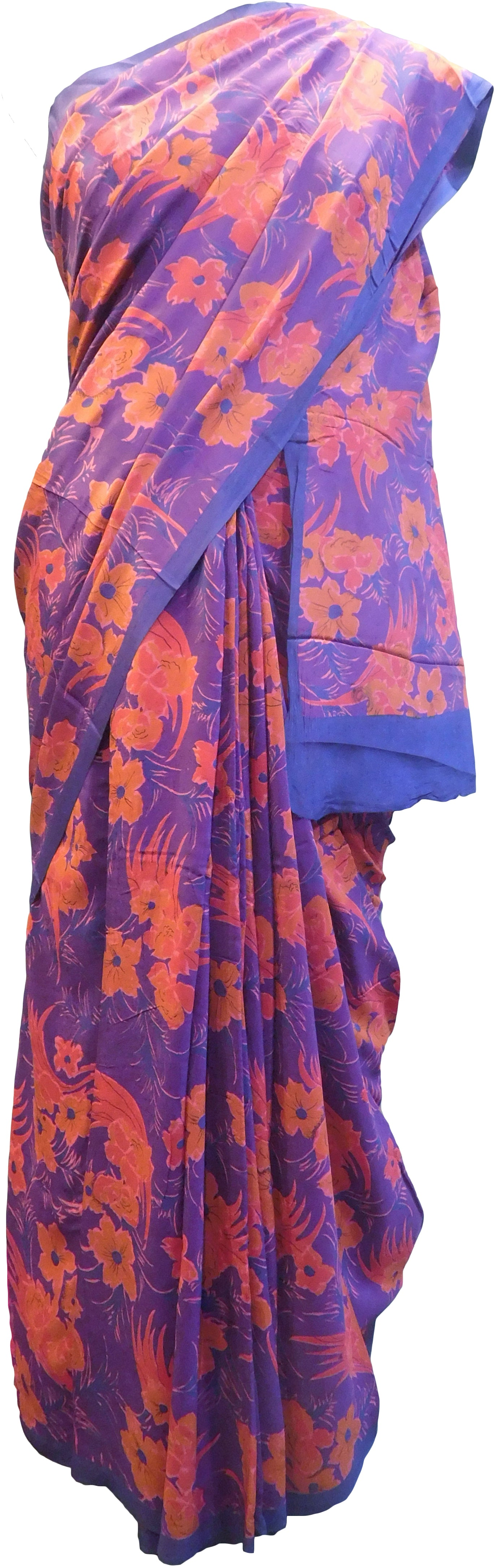 Multicolor Designer Wedding Partywear Pure Crepe Hand Brush Reprinted Kolkata Saree Sari With Blouse Piece  RP287