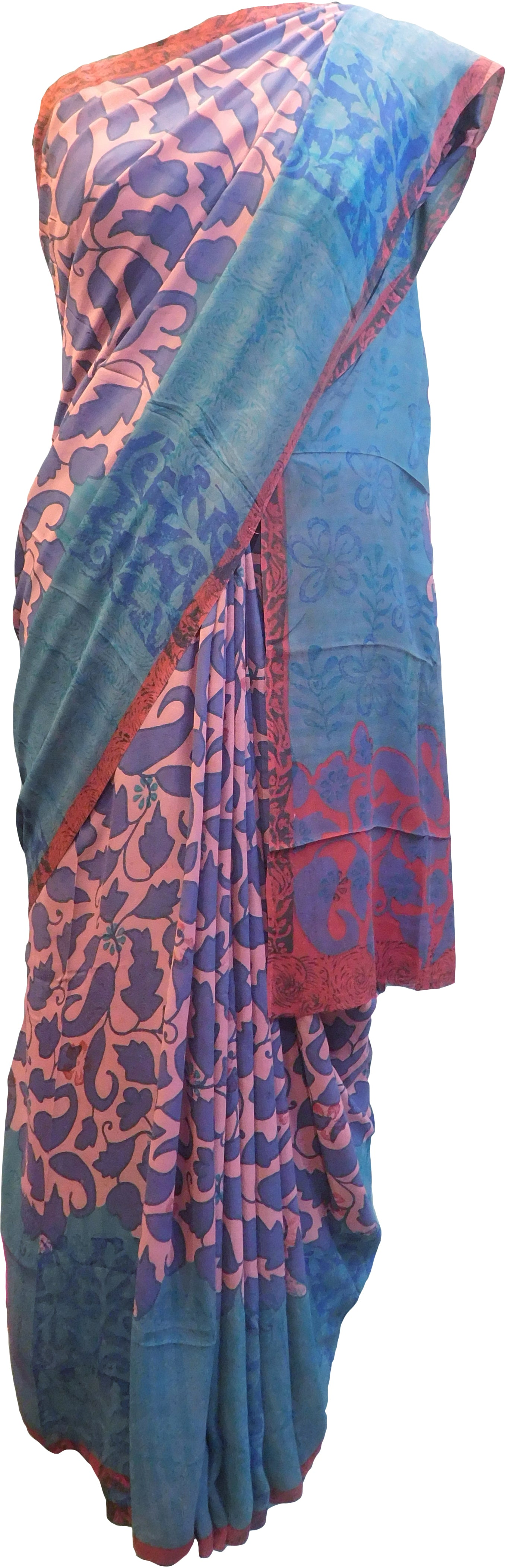 Multicolor Designer Wedding Partywear Pure Crepe Hand Brush Reprinted Kolkata Saree Sari With Blouse Piece  RP289