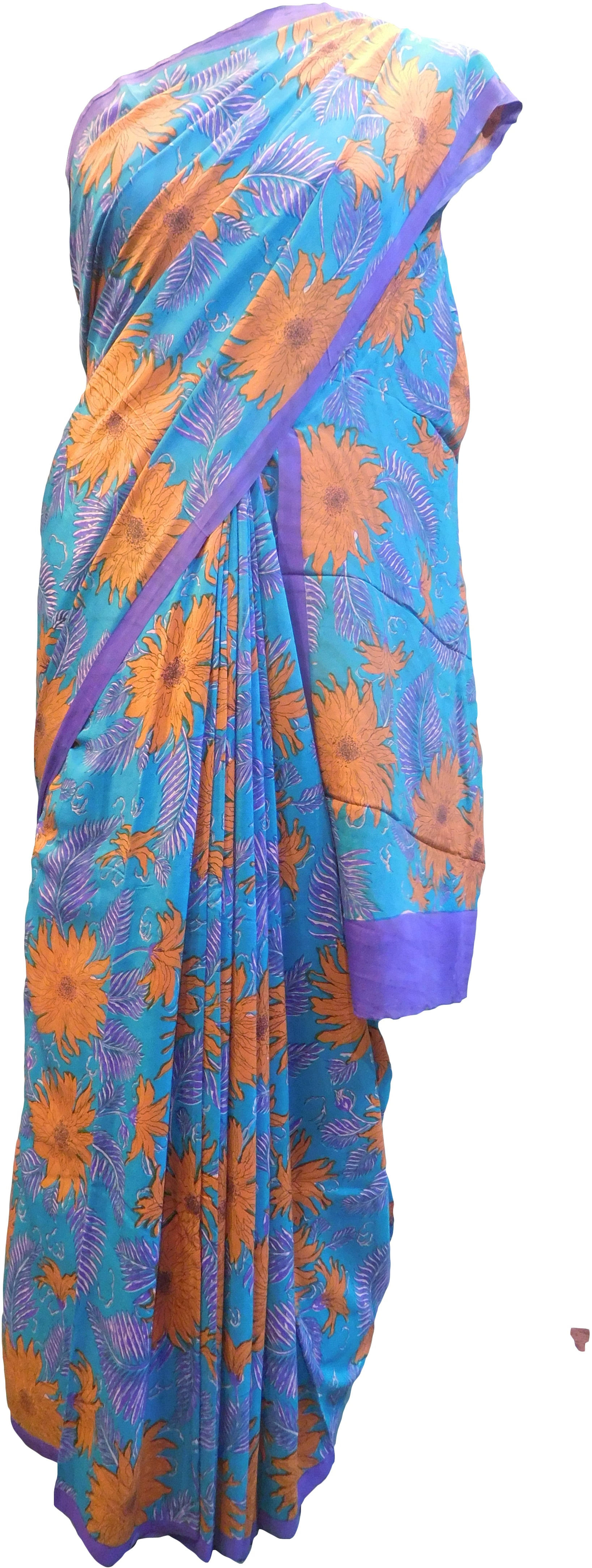 Multicolor Designer Wedding Partywear Pure Crepe Hand Brush Reprinted Kolkata Saree Sari With Blouse Piece RP293