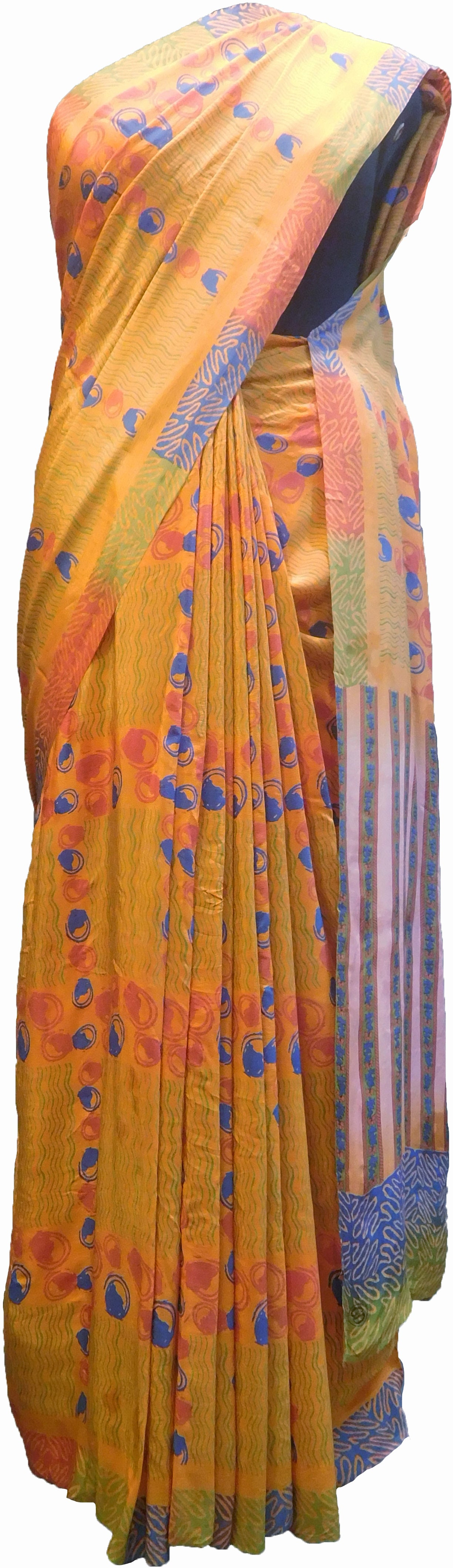 SMSAREE Multi Color Designer Wedding Partywear Pure Crepe Hand Brush Print Hand Embroidery Work Bridal Saree Sari With Blouse Piece RP346