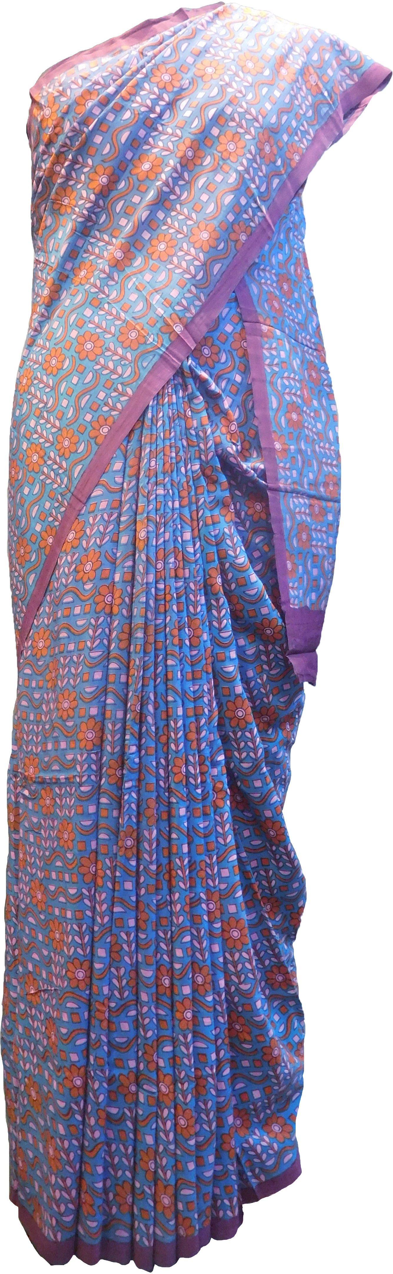 SMSAREE Multi Color Designer Wedding Partywear Pure Crepe Hand Brush Print Hand Embroidery Work Bridal Saree Sari With Blouse Piece RP376