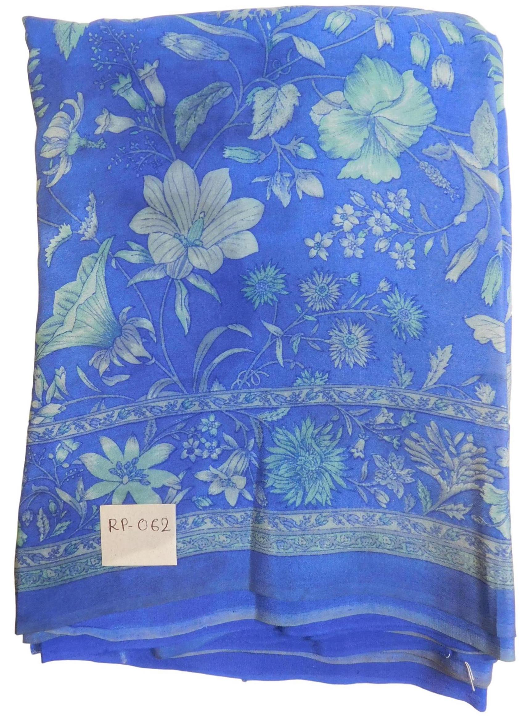 Multicolor Designer Wedding Partywear Pure Crepe Hand Brush Reprinted Kolkata Saree Sari RP62